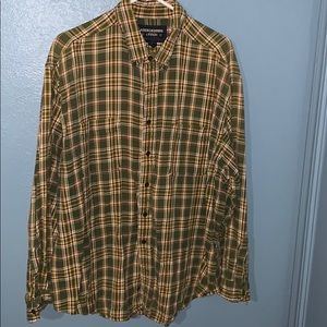 Green and yellow plaid flannel